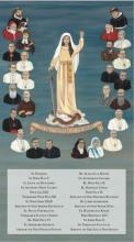 The 26 Champions of the Rosary with Names 10 x 18 Canvas with names of 26 Champions, Gallery Wrap
